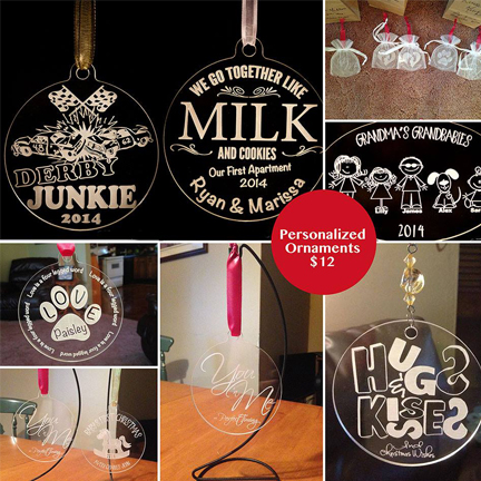 Personalized Laser Etched Ornaments