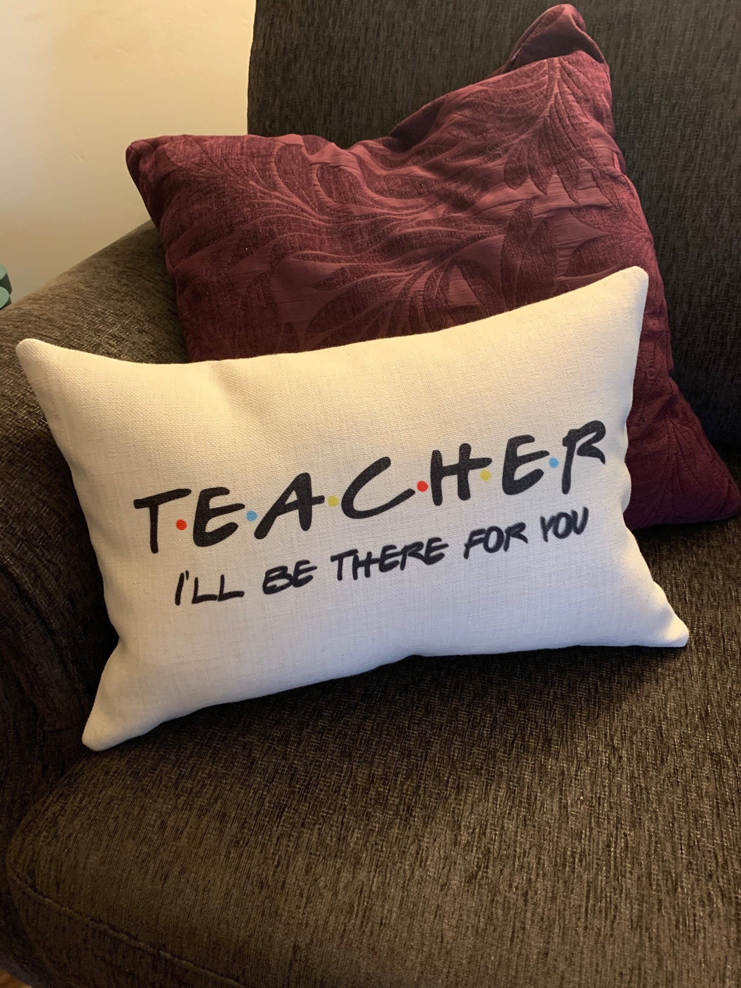 Teacher Pillow Friends Theme