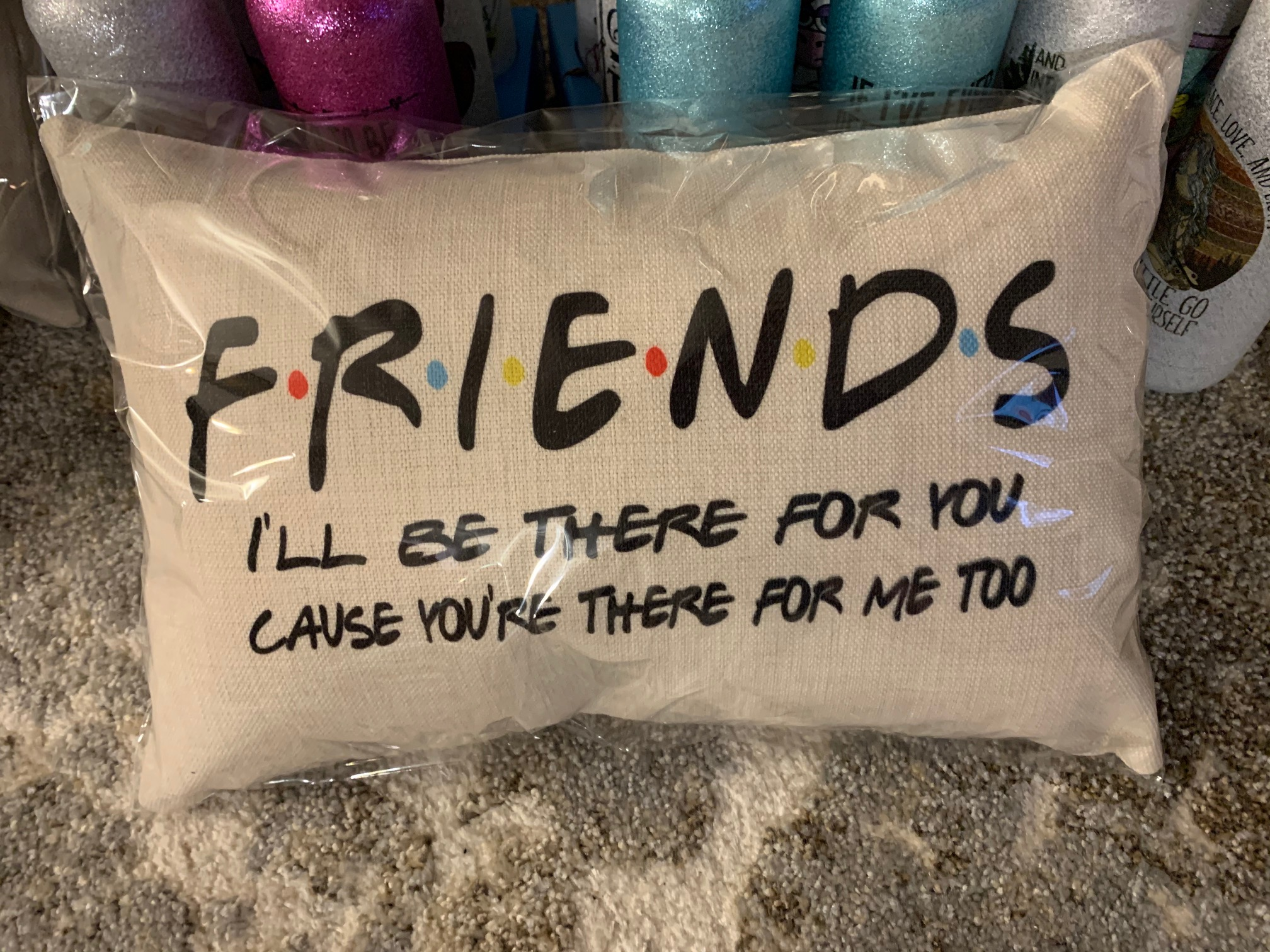 Friends theme pillow